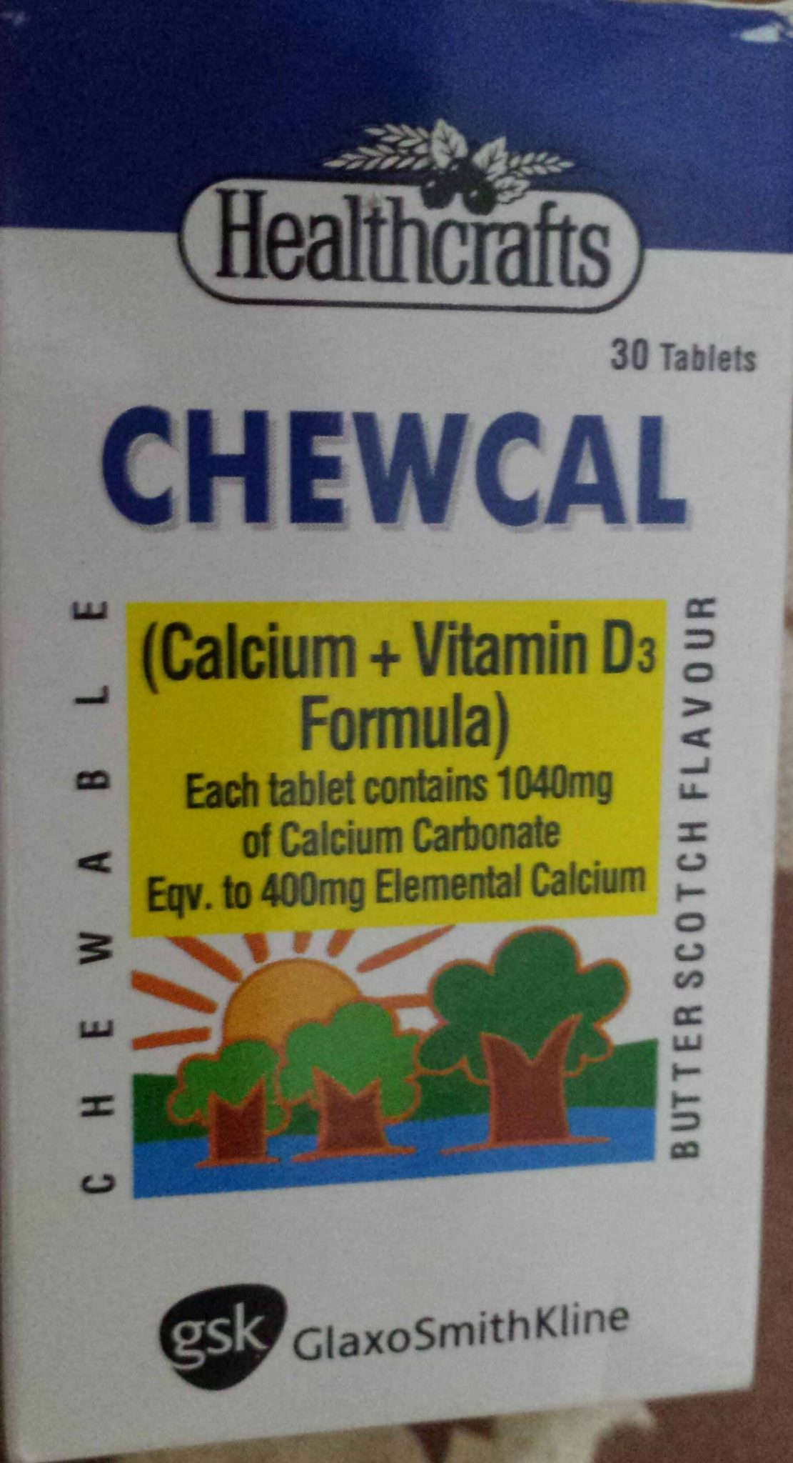 Chewcal(Calcium +Vitamin D3)Tablets Is Used For Osteoporosis , Deficiency of Vitamin D