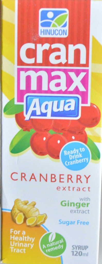 Cran-Max Aqua(Cran-Berry+ Ginger) Syrup Uses For all Type Of recurrent Uti(Urinary Tract Infection) In Pakistan