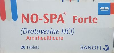 No-Spa Tablets Forte 80mg 20's Uses Side Effects Dose Contraindication Price In Pakistan